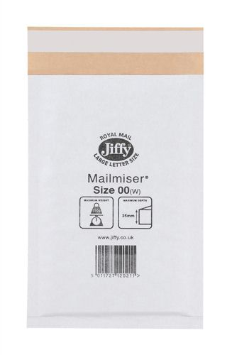 Jiffy Mailmiser 115x195mm White [Pack of 100]