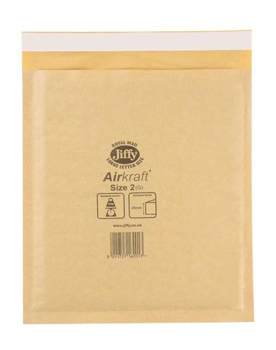 Jiffy Airkraft Gold 205x245mm [Pack of 100]