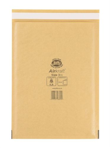 Jiffy Airkraft 220x320mm Size 3 Gold [Pack of 50]