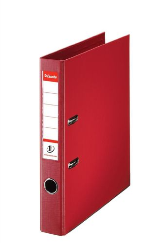 Esselte A4 Lever Arch File PVC 50mm Red [Pack of 10]