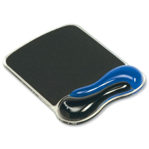 Kensington Gel Wave Mouse Mat Blue and Black
