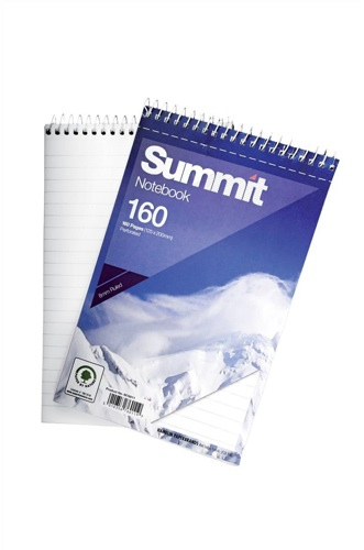 Summit Spiral Notebook 125x200mm 80 Leaf [Pack of 10]