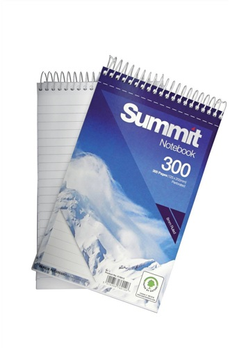Summit Spiral Notebook 125x200mm 150 Leaf [Pack of 5]