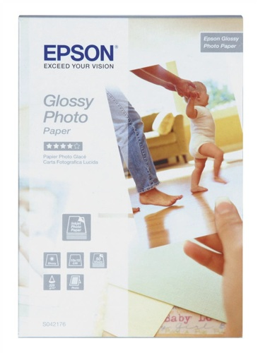 Epson S042176 Glossy Photo Paper [Pack of 50]