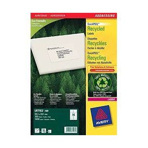Avery Recycled Laser Address Labels LR7163-100 14/Sheet [Pack of 100 Sheets]