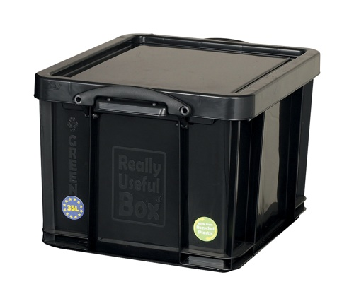 Really Useful 35 Litre Recycled Box Black