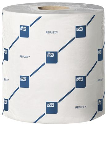 Tork Reflex Wiping Paper Plus Mini White 2-Ply 63m [Pack of 9]