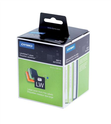 Dymo Lever Arch File Large Labels 59x190mm Permanent [Pack of 110]