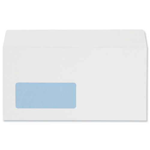 Envelopes Wallet Peel and Seal Window 100gsm White DL [Pack of 500]
