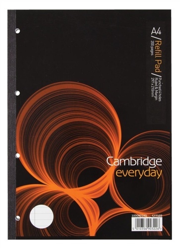 Cambridge Everyday A4 Refill Pads Sidebound [Pack of 5]
