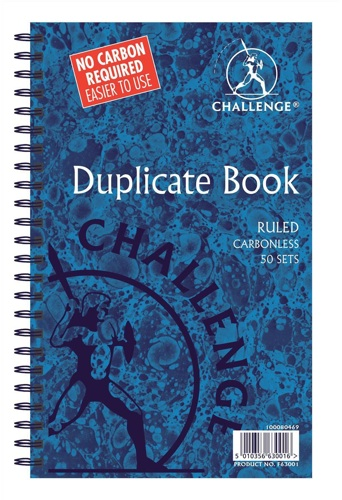 Challenge Duplicate Book 210x130mm Carbonless Feint Ruled [Pack of 5]