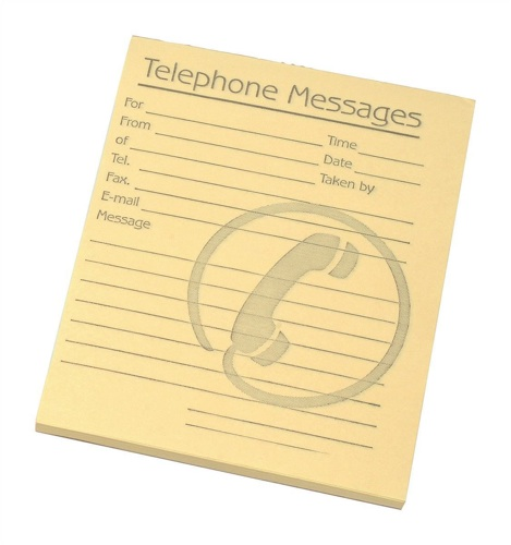 Challenge Telephone Message Pad 4x5 Inches Yellow [Pack of 10]