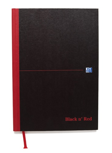 Black n Red Sketch Book A4 Plain [Pack of 5]