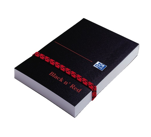 Black n Red A7 Notebook with Strap