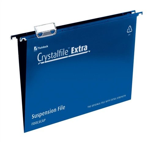 CrystalFile Extra Foolscap Blue [Pack of 25]