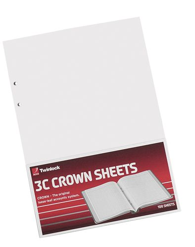 Twinlock Crown 3C Double Ledger [Pack of 100]